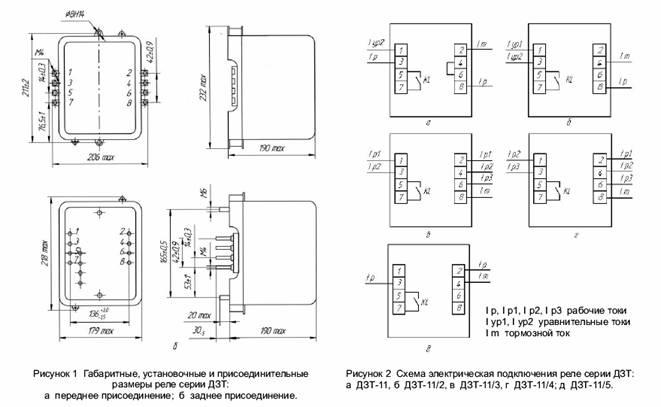 Реле тока дифференциальные с торможением ДЗТ-11