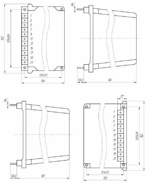размеры РПВ-01 - Реле
