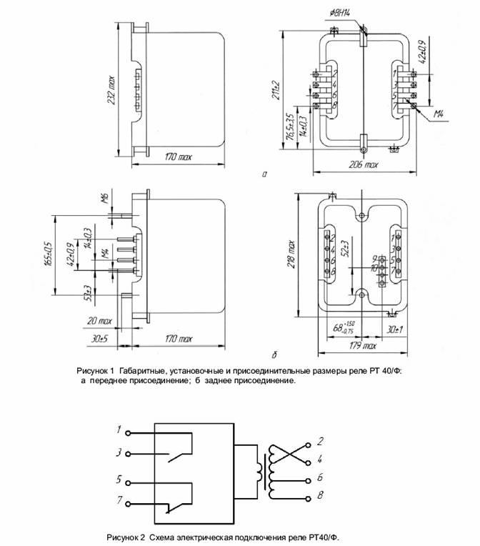 Реле максимального тока с загрублением от высших гармоник РТ-40/Ф