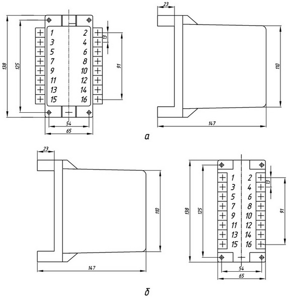 размеры реле серии РТДм-11